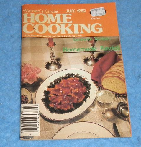 Cookbook -Womens Circle Home Cooking July 1982