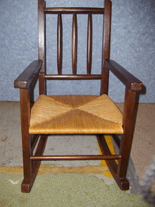 Childs Rocker w/Rush Seat