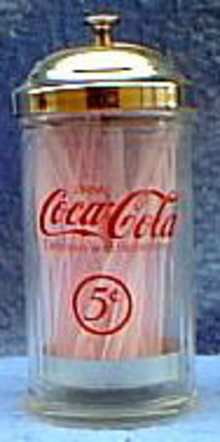 Coke Straw Holder w/Straws