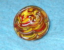 Paper weight - Swirls red/yellow/white