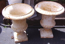 Urn - White Cast  Iron   (2)