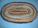 Antique Vintage Rug Plated - Oval