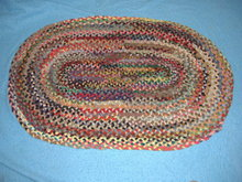Vintage Antique Rug Plated - Oval