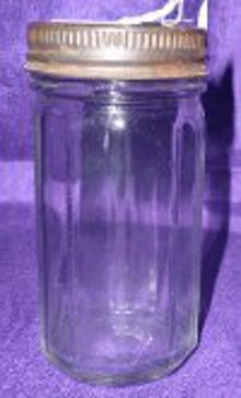 Vintage Colonial Pattern Hoosier Jar Original