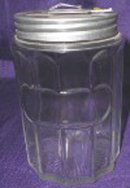 Repro Hoosier Colonial Glass Tea Jar - Original