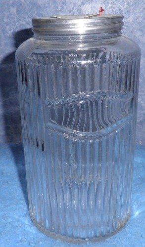 Mission Pattern Glass Jar