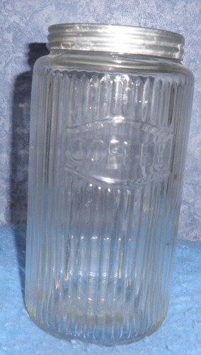 Vintage/Antique Hoosier Ribbed Coffee Jar