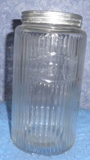 Vintage/Antique Hoosier Ribbed Coffee Jar