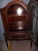 Vintage Dome Top China Cabinet Walnut