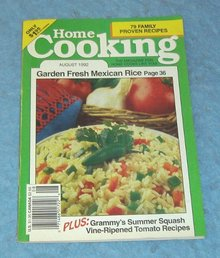 Vintage Magazine - Home Cooking August 1992