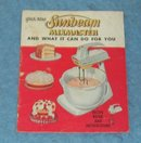 Vintage  Sunbeam Mix Master Recipes