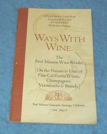 Vintage  Cook Book - Ways with Wine