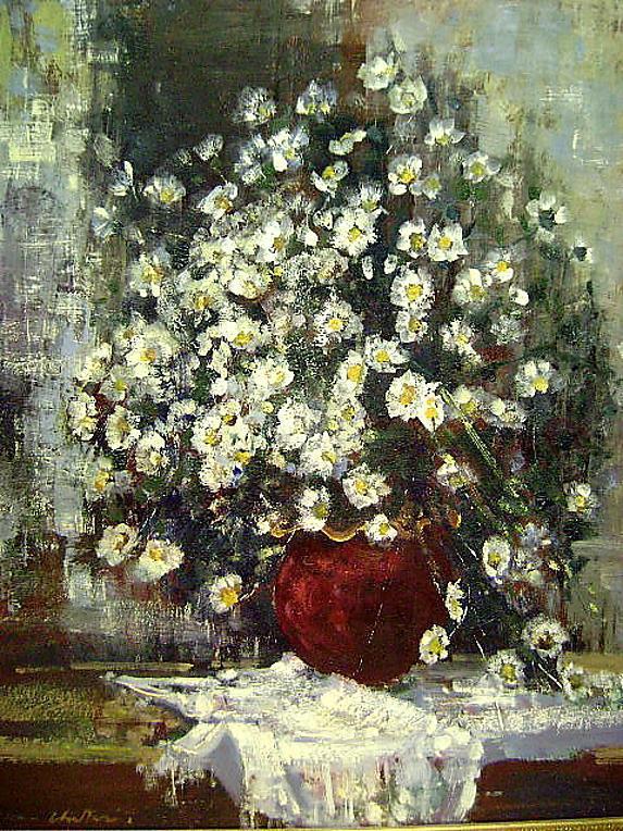 Geoffrey Chatten's flowers Listed British painter