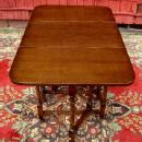 QUALITY 1900s Oak Barley Twist gatelegTable