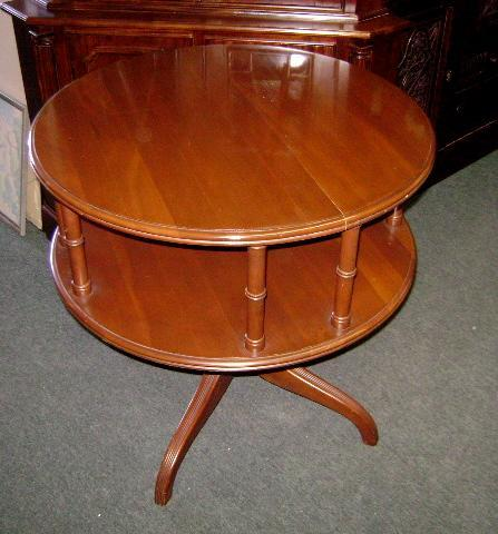Antique 1900s English large Gallery Drum Table