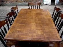 Magnificent English Solid Oak Dining Set 9 pieces!!