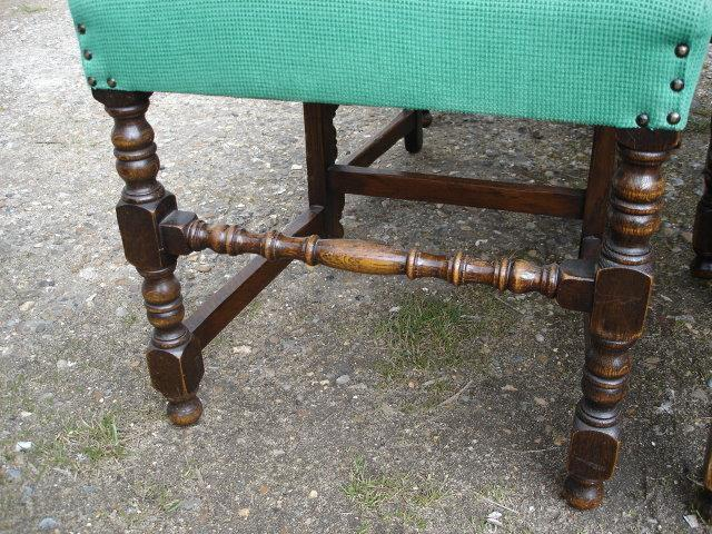 1900s!! English QUALITY Solid Oak Set 6 Chairs!