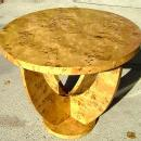Quality LARGE Blond Elm Art Deco style Table