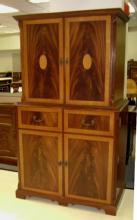 SUPERB Quality inlaid mahog. entertainment cabinet