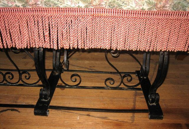 1920s American LARGE Cast Iron Bench
