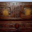 MONUMENTAL!! English solid oak court cupboard