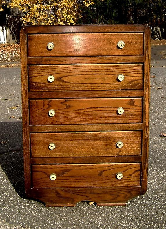 period 1930s  Art Deco oak chest of drawers / bureau