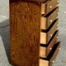 period 1930s  Art Deco oak chest of drawers / bureau