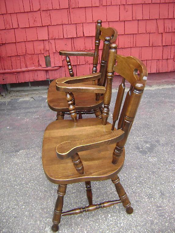 Fantastic EIGHT antique solid oak Large English chairs