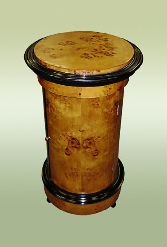 Biedermeier Style round Barrel commode