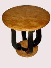 Large Art Deco style forms round side table