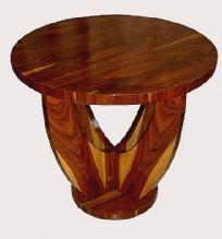 Classic LARGE Art Deco style round rosewood table