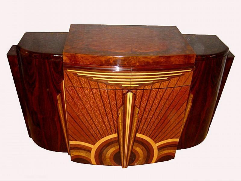EXTRAORDINARY Art Deco forms Sideboard buffet