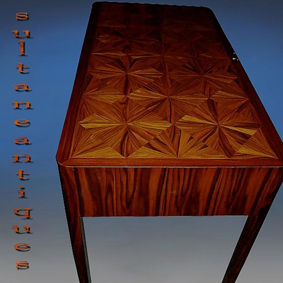 PUREST Classic Art Deco style parquetry Desk