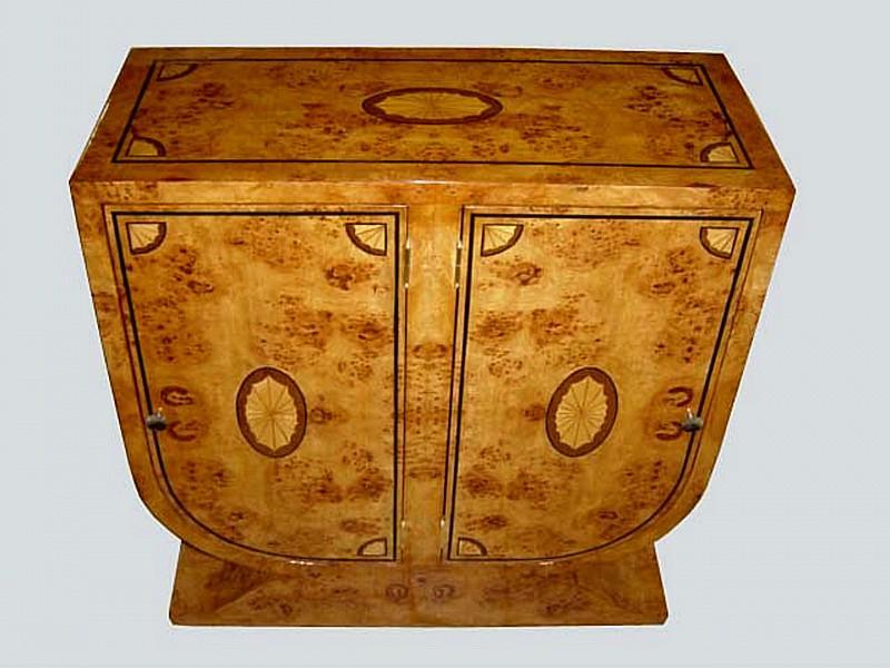 GORGEOUS Elm Inlaid Buffet Art Deco style
