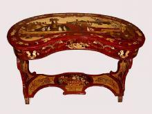 STUNNING kidney shaped Empire style lady's desk