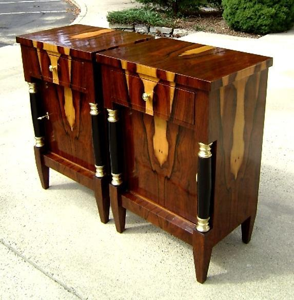 EXTRAORDINARY Pair of Biedermeier style commodes