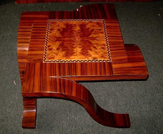 Eccentric unusual side table Art Deco inspired