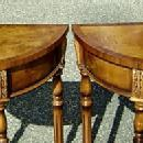QUALITY PAIR Birds eye Maple Victorian style consoles