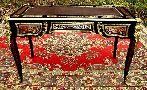 Grandiose Royal Louis XV style Boulle desk