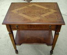 Quality English marquetry Inlaid walnut table-desk