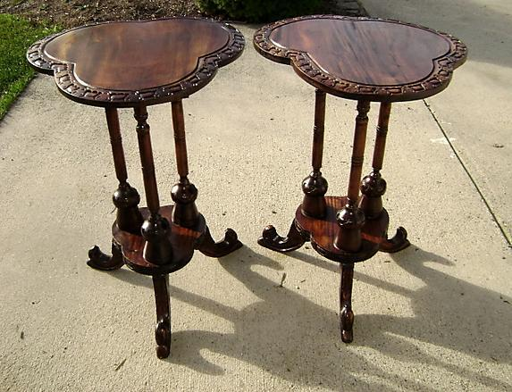 Beautiful Pair of solid Mahogany Irish style side table