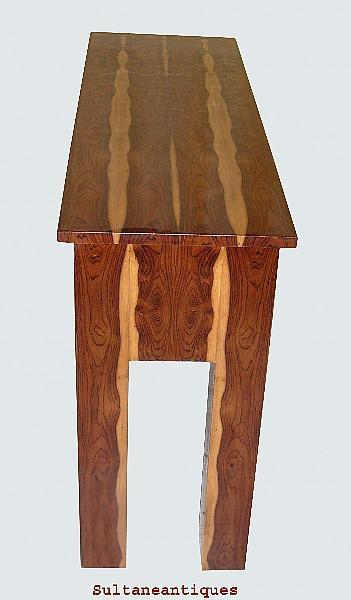 Large EXOTIC Rosewood Art Deco Sofa table