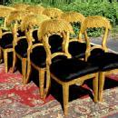 WONDERFUL set 8 unusual biedermeier style chairs
