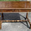 ROYAL Queen Mary style walnut LARGE 50 inch desk