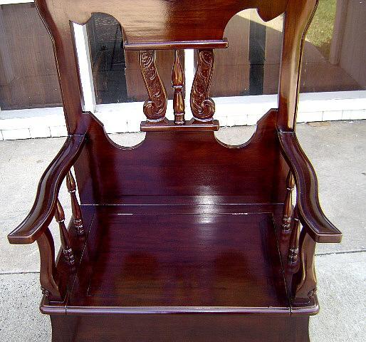 Victorian style Solid mahogany carved Hall stand