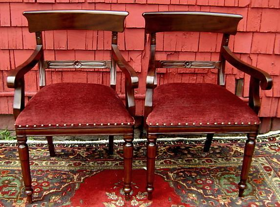 SET SIX Regency style chairs solid mahogany