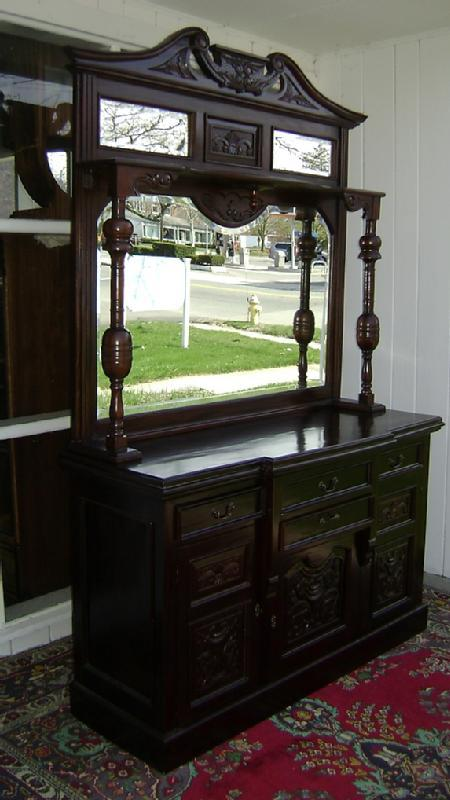 Splendid Monumental Flamed mahogany sideboard