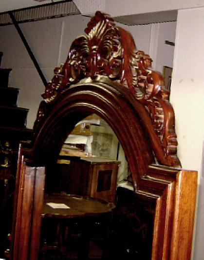 Quality Large Victorian Mahogany Standing Mirror