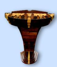 PHENOMENAL exotic rosewood Art Deco style console