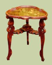 DRAGONFLY Marquetry TABLE Galle design